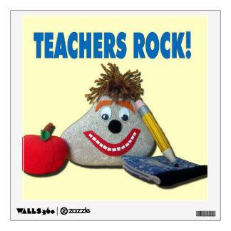 ¡Roca de los profesores! Etiqueta linda de la pare