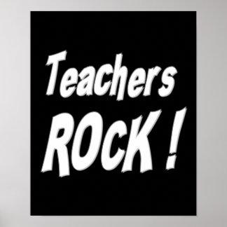 ¡Roca de los profesores Impresión del poster