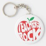 Roca de los profesores llaveros personalizados