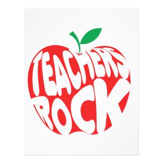 Roca de los profesores plantilla de membrete