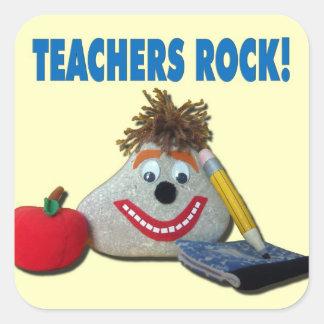 ¡Roca de los profesores! Pegatina amarillo