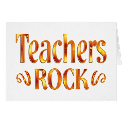 Roca de los profesores tarjeton
