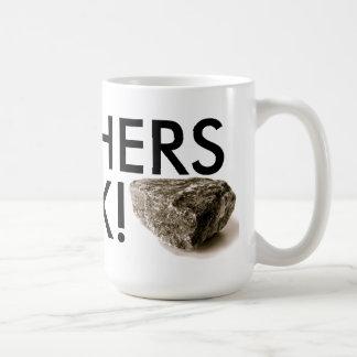 ¡Roca de los profesores! Taza de café