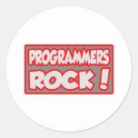 ¡Roca de los programadores! Pegatina Redonda