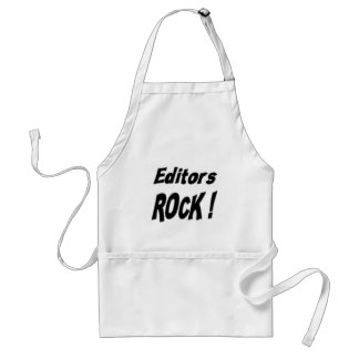 ¡Roca de los redactores! Delantal