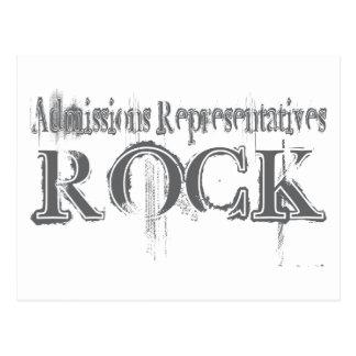 Roca de los representantes de las admisiones postal