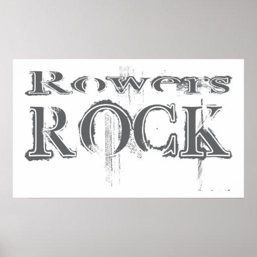 Roca de los Rowers Póster