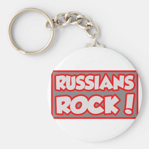 ¡Roca de los rusos! Llavero Personalizado