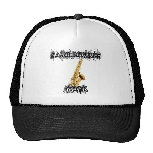 Roca de los saxofones gorras de camionero