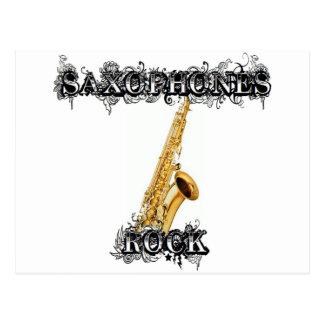 Roca de los saxofones postal