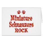 Roca de los Schnauzers miniatura Felicitación