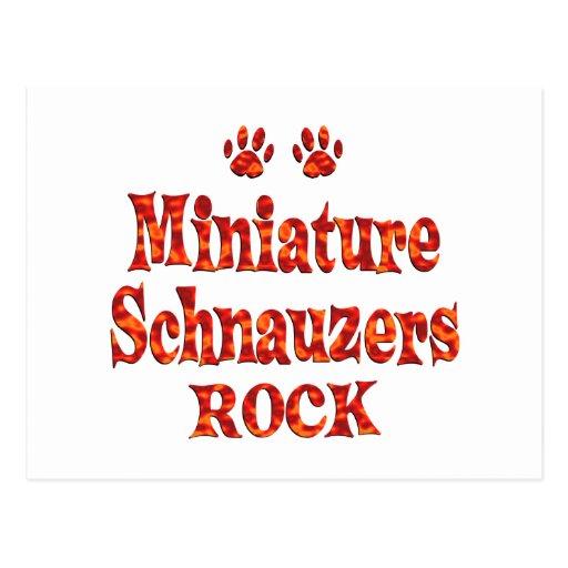 Roca de los Schnauzers miniatura Postal