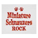Roca de los Schnauzers miniatura Poster