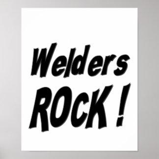¡Roca de los soldadores Impresión del poster