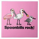 ¡Roca de los Spoonbills! Azulejo Cerámica