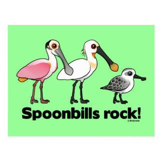 ¡Roca de los Spoonbills! Tarjeta Postal