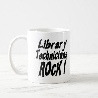 ¡Roca de los técnicos de la biblioteca! Taza