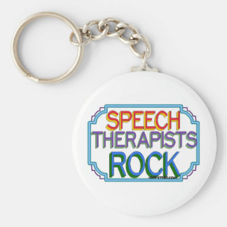 Roca de los terapeutas de discurso llavero personalizado