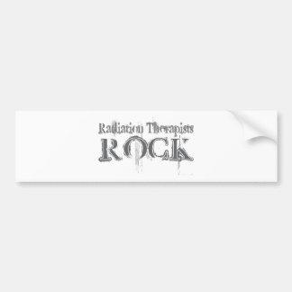 Roca de los terapeutas de la radiación pegatina de parachoque