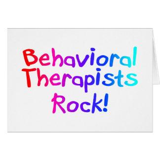 Roca de los terapeutas del ABA (brillante) Tarjetas