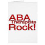 Roca de los terapeutas del ABA (roja) Tarjeta