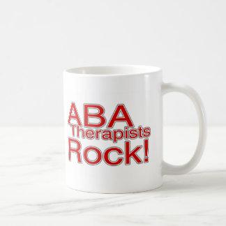 Roca de los terapeutas del ABA roja Tazas De Café