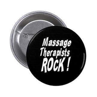 ¡Roca de los terapeutas del masaje! Botón Pins