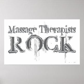 Roca de los terapeutas del masaje impresiones