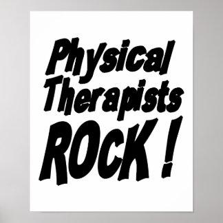 ¡Roca de los terapeutas físicos Impresión del pos