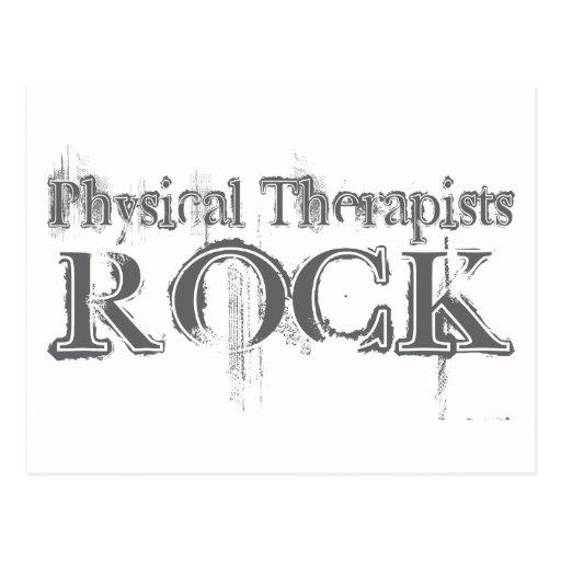 Roca de los terapeutas físicos postal