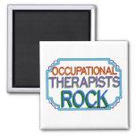 Roca de los terapeutas profesionales imán de frigorífico