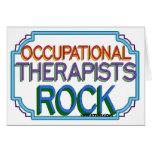 Roca de los terapeutas profesionales tarjetón