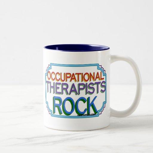 Roca de los terapeutas profesionales taza