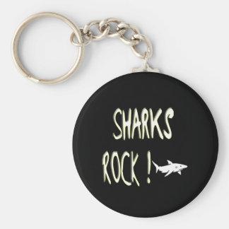 ¡Roca de los tiburones! Llavero