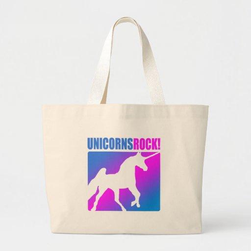 ¡Roca de los unicornios! Bolsa Tela Grande