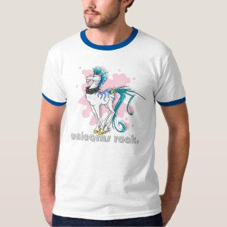 ¡Roca de los unicornios! la camiseta de los Polera