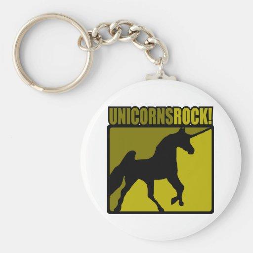 Roca de los unicornios llavero personalizado