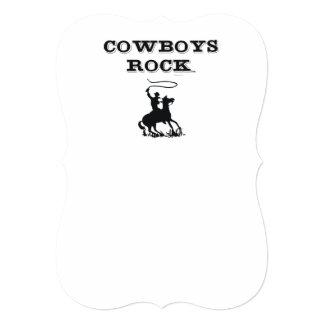 Roca de los vaqueros de la CAMISETA Invitaciones Personalizada