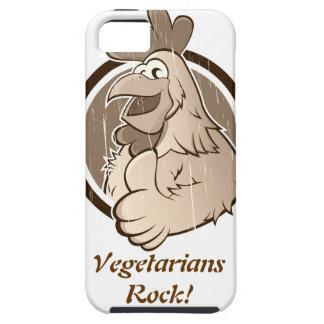 ¡Roca de los vegetarianos! Caso DURO para el iPhone 5 Case-Mate Protector