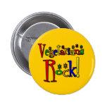 Roca de los vegetarianos (estilo retro) pin