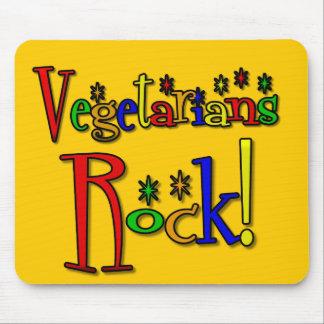 Roca de los vegetarianos estilo retro alfombrillas de ratones