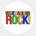 ROCA de los vegetarianos Etiqueta