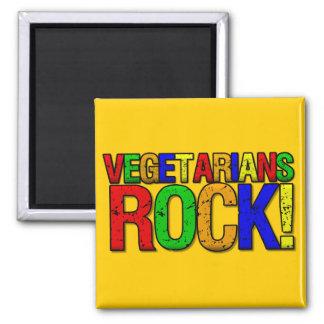ROCA de los vegetarianos Imán Cuadrado