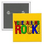 ROCA de los vegetarianos Pins