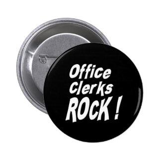 ¡Roca de los vendedores de oficina! Botón Pins