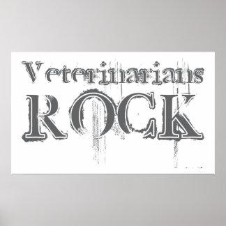 Roca de los veterinarios póster