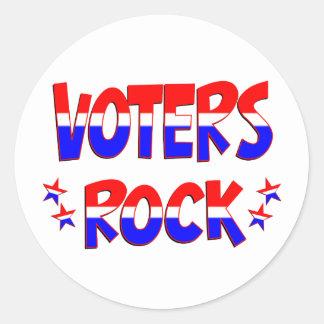Roca de los votantes pegatina redonda