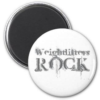 Roca de los Weightlifters Imán Redondo 5 Cm