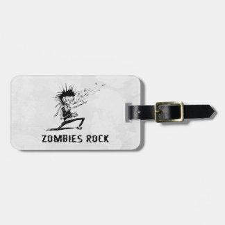 roca de los zombis etiqueta para maleta