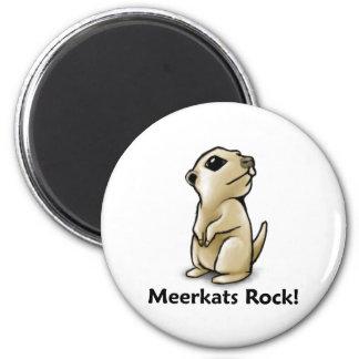 ¡Roca de Meerkats! Imán Redondo 5 Cm